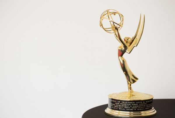 Academy of Television Arts and Sciences 2015 67th Primetime Engineering Emmy Award Statuette at SSIMWAVE Office Waterloo, Canada