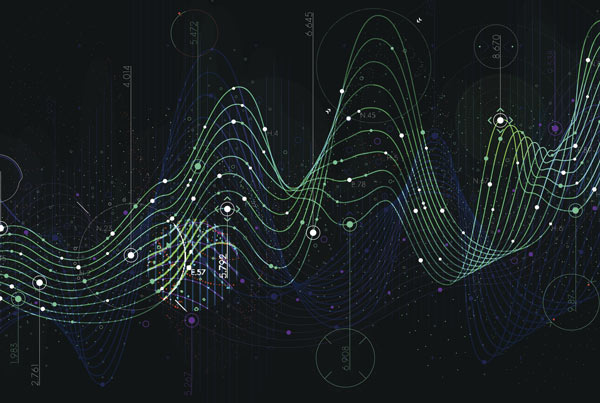 Data points and waves