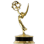 Television Academy Emmy Award Statuette for SSIMWAVE's Co-Founder Dr. Zhou Wang's Primetime Engineering Emmy Award Win