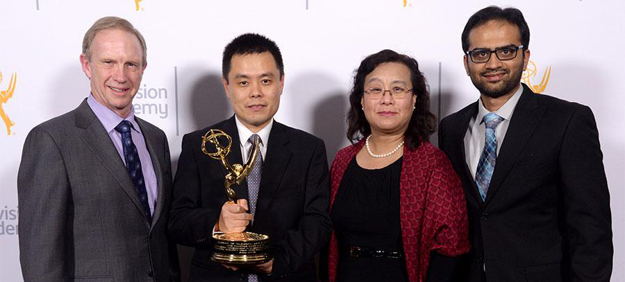 Dr. Zhou Wang Wins Emmy with Dr. Abdul Rehman, Richard Turton and Ling Loerchner by his side at the Television Academy's Ceremony 2015