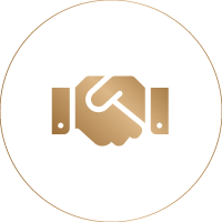 Emmy gold handshake icon