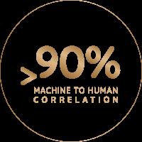 Emmy gold machine to human correlation icon