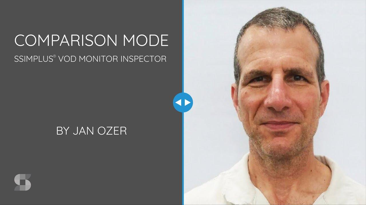 Comparison mode intro slide with Jan Ozer's headshot