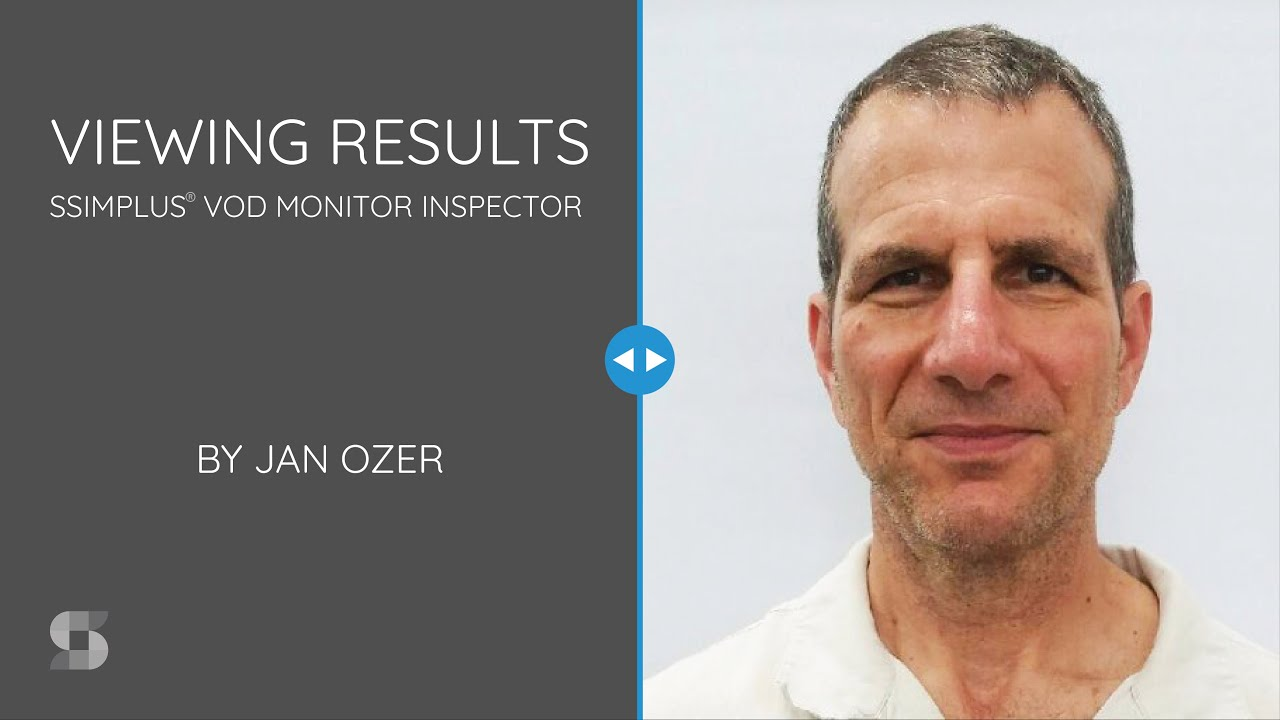 Viewing Results intro slide with Jan Ozer's headshot